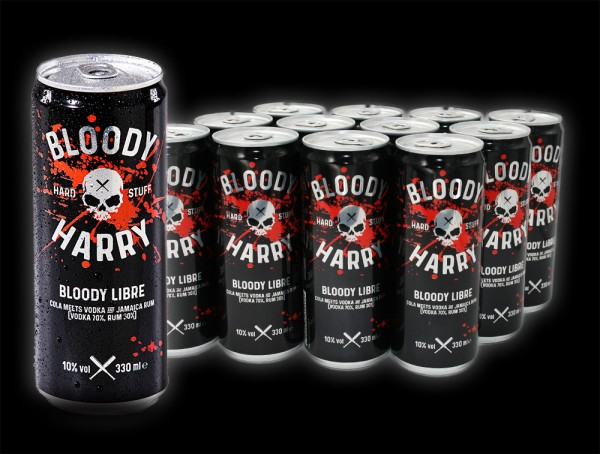 BLOODY LIBRE 0,33l, 10% vol, 12 Dosen
